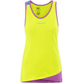 La Sportiva Dihedral Tank Women Apple Green/Purple